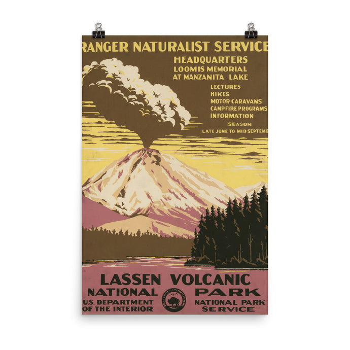 Lassen Volcano National Park Vintage WPA Printed Poster - Old McLeod Trading Co Product