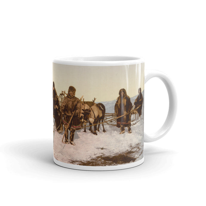 Traveling By Reindeer Russian Photochrom Print Vintage Mug - Old McLeod Trading Co Product