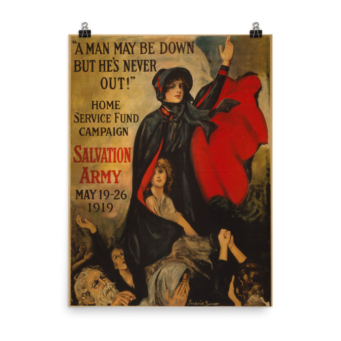 Salvation Army World War II Vintage Poster - Old McLeod Trading Co Product