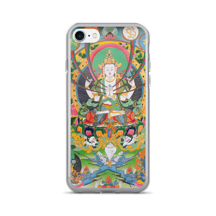 Buddhist Avalokiteshvara Mantra iPhone 7/7 Plus Case - Old McLeod Trading Co Product