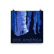 See America Crystal Caves WPA Vintage Poster - Old McLeod Trading Co Product