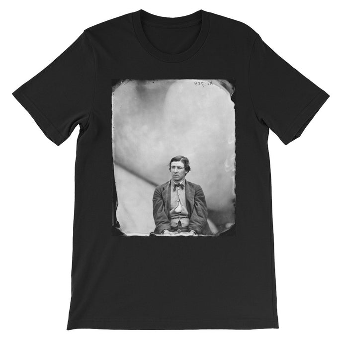 Woah Man Historical Portrait Printed T-shirt black
