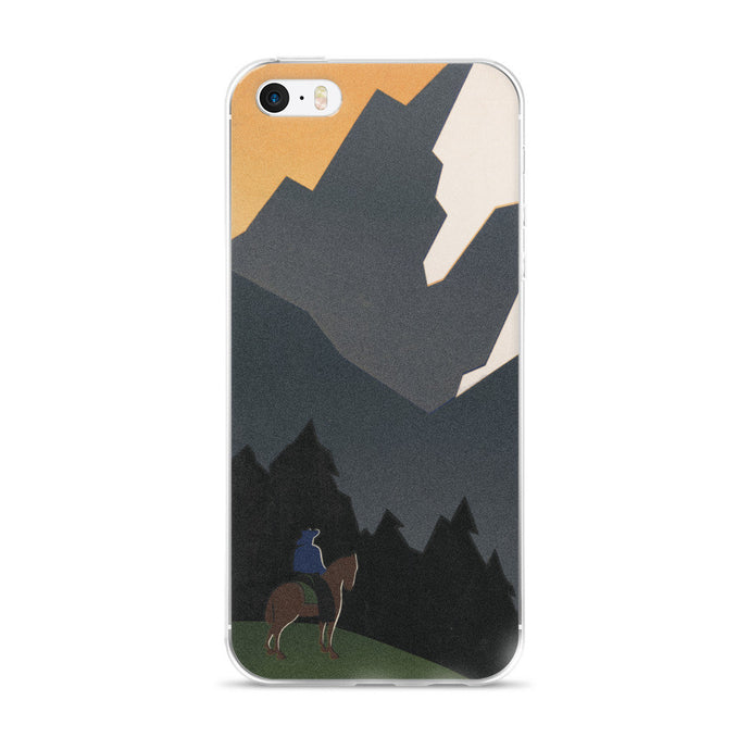Montana Cowboy Vintage Printed iPhone 5/5s/Se, 6/6s, 6/6s Plus Case - Old McLeod Trading Co Product