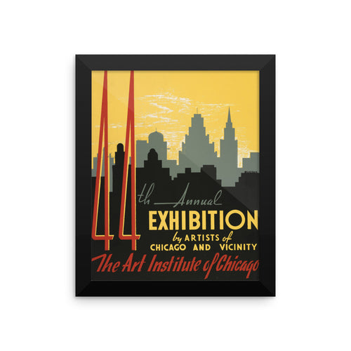 Art Institute of Chicago Vintage WPA Framed Poster - Old McLeod Trading Co Product