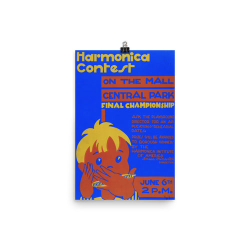 Harmonica Contest History Print Poster - Old McLeod Trading Co Product
