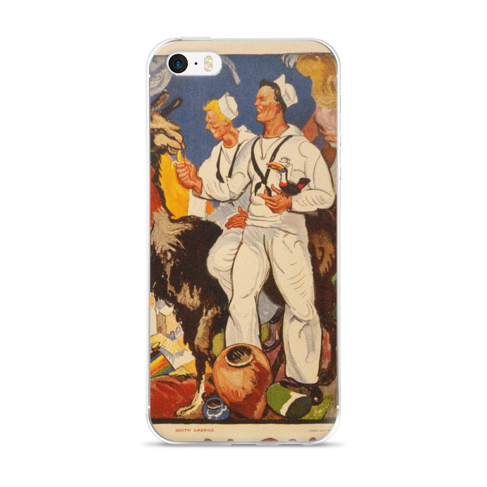 WWII US Navy Sailors Printed iPhone 5/5s/Se, 6/6s, 6/6s Plus Case - Old McLeod Trading Co Product