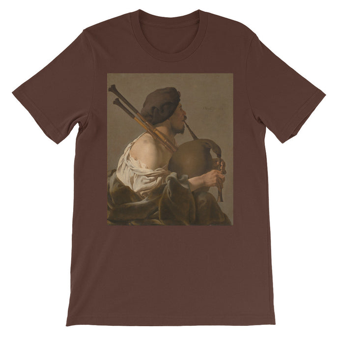 Bagpipe Player Vintage Art Print T Shirt - Old McLeod Trading Co Product