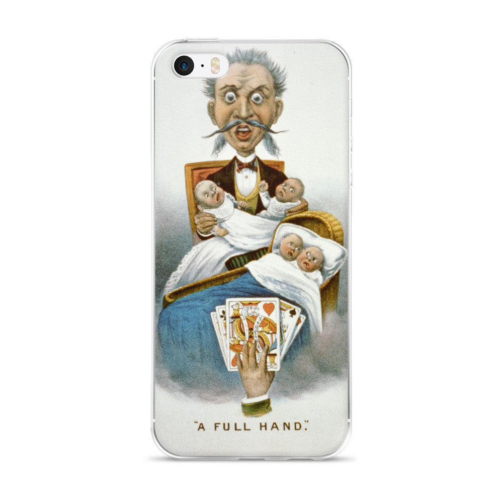 A Full Hand Vintage Printed iPhone 5/6 Case