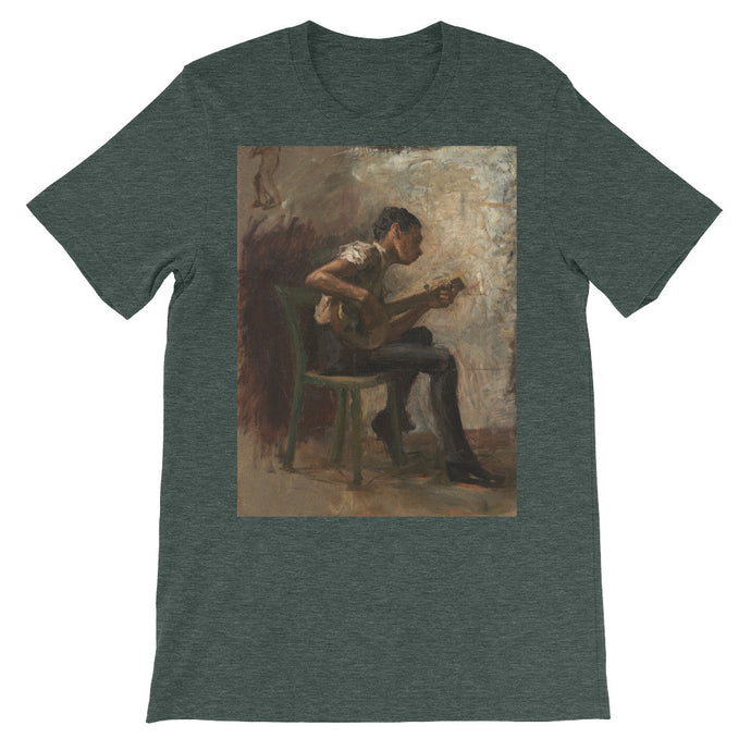 The Banjo Player Vintage Fine Art Print T Shirt - Old McLeod Trading Co Product