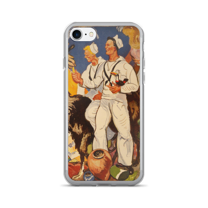 WWII US Navy Sailors Printed iPhone 7/7 Plus Case - Old McLeod Trading Co Product