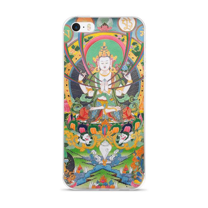 Buddhist Avalokiteshvara Mantra Printed iPhone 5/5s/Se, 6/6s, 6/6s Plus Case - Old McLeod Trading Co Product