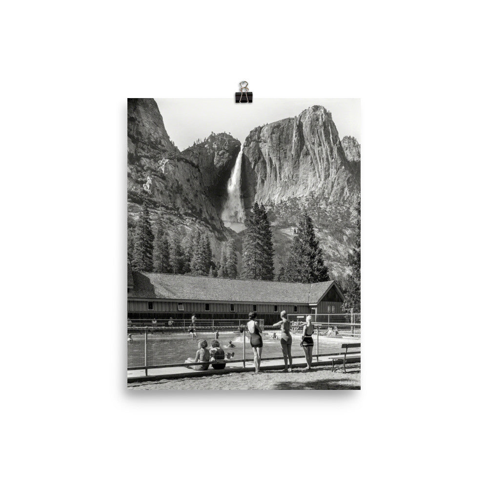 Yosemite Swimmers Vintage Photo Print Poster - Old McLeod Trading Co Product