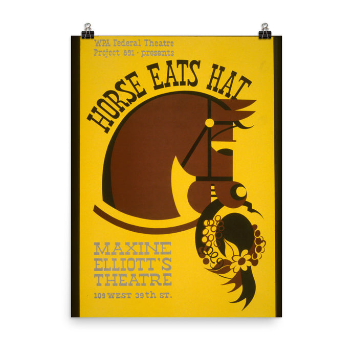Horse Eats Hat Vintage WPA Printed Poster - Old McLeod Trading Co Product