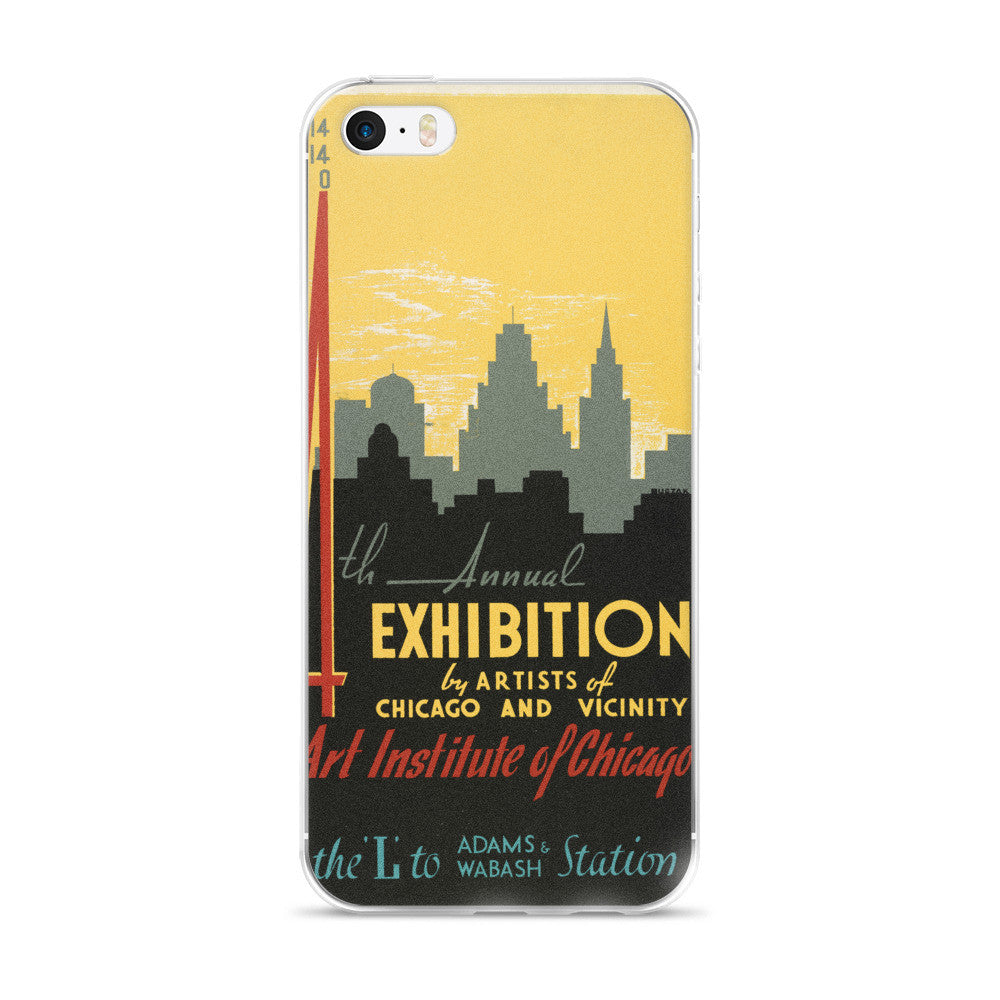 Chicago Skyline Vintage Printed iPhone 5/6 Case