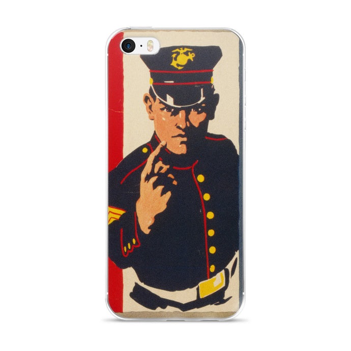 Marine Recruiter Vintage WW2 iPhone 5/5s/Se, 6/6s, 6/6s Plus Case - Old McLeod Trading Co Product