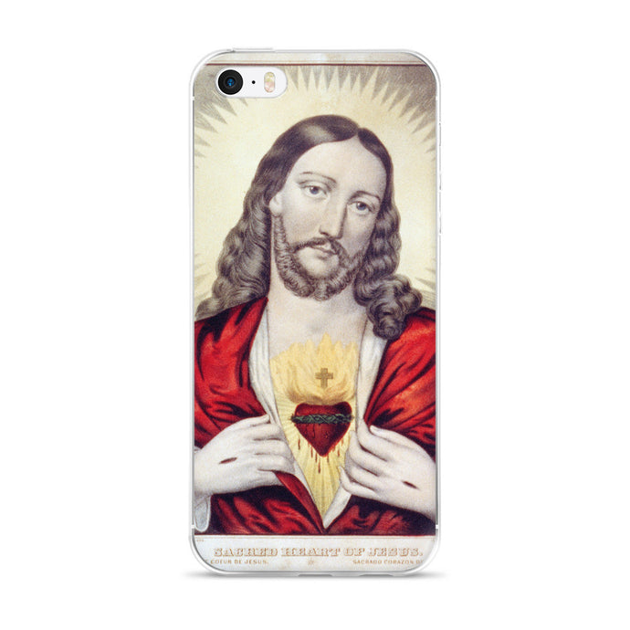 Jesus' Sacred Heart Vintage Printed iPhone 5/6 Case - Old McLeod Trading Co Product