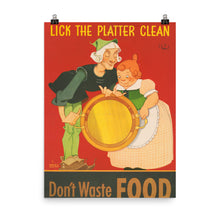 Dont Waste Food Vintage War Poster
