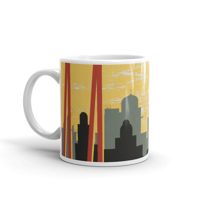 Chicago Skyline Vintage Illustration Mug