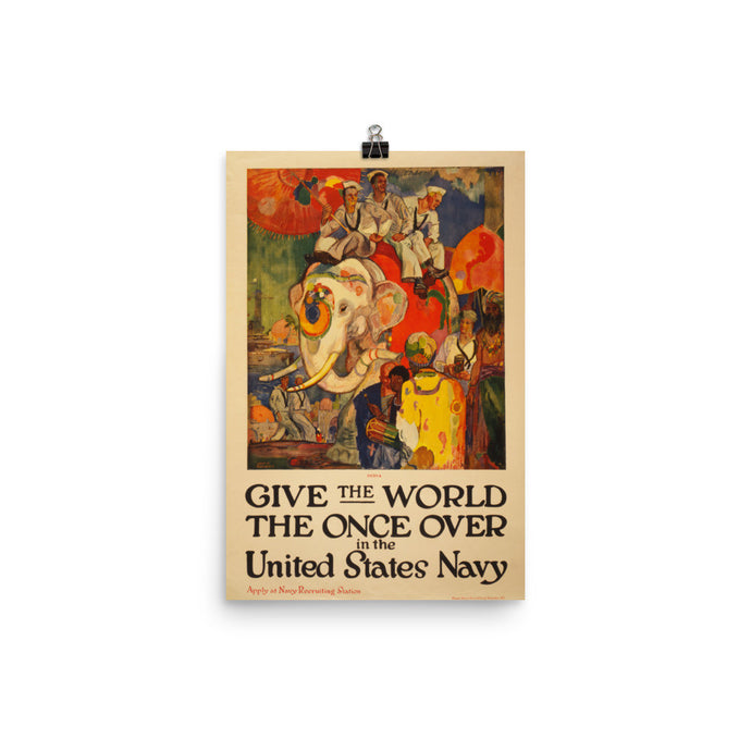 Give the World the Once Over Vintage US Army Recruitment Poster - Old McLeod Trading Co Product