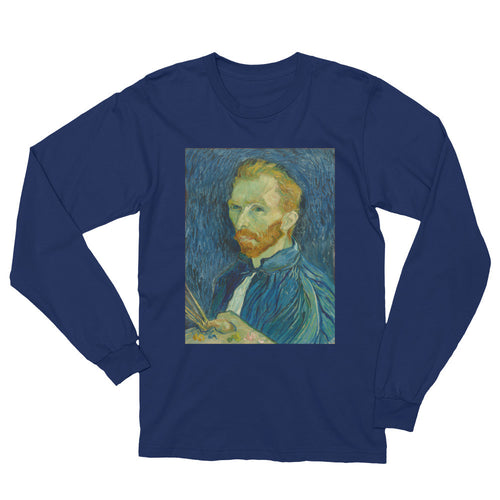 Van Gogh Self-Portait Vintage Art Print Long Sleeve T Shirt - Old McLeod Trading Co Product