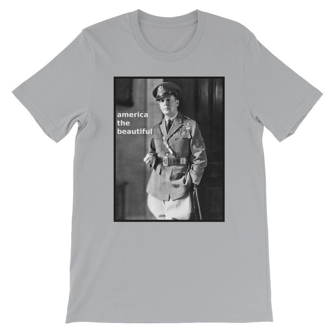 Beautiful US Soldier Historical Photo T-Shirt grey