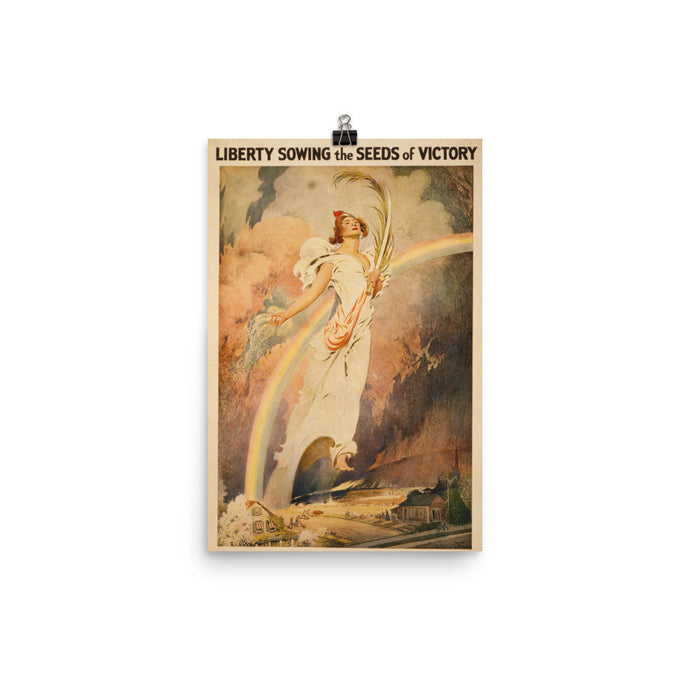 Lady Liberty World War II Vintage Poster - Old McLeod Trading Co Product