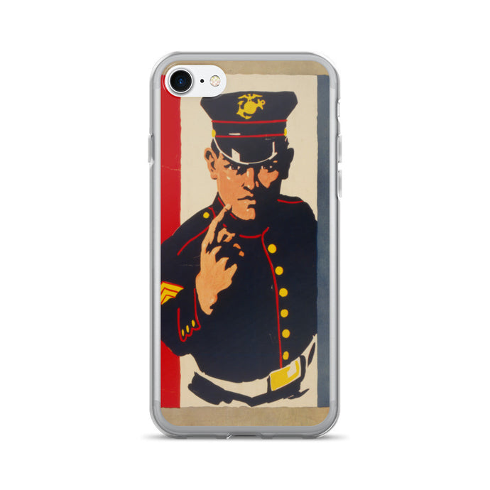 US Marine Recruiter Vintage Printed iPhone 7/7 Plus Case - Old McLeod Trading Co Product