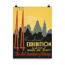 Art Institute of Chicago Exhibition 1944 Poster Print - Old McLeod Trading Co Product