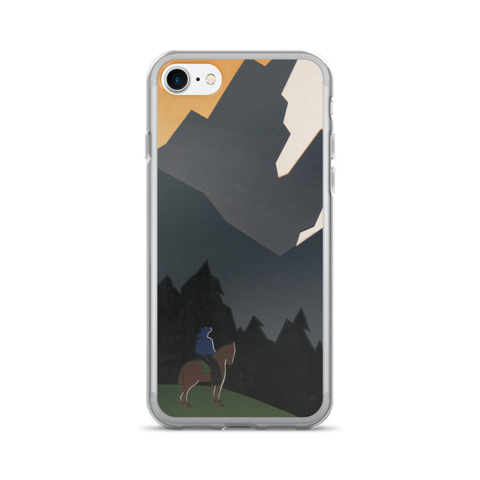 Montana Cowboy Vintage Printed iPhone 7/7 Plus Case - Old McLeod Trading Co Product
