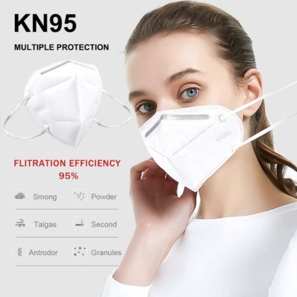 100x FDA APPROVED KN95 Mask Respirator (FDA Cleared, European FFP2, CE EN149), Safety Face Mask, Air Filtration Anti Dust Mask, Disposable Particulate Filtering Respirator - K&S Wholesaler