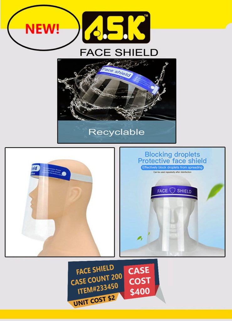 200X Safety Face Shield, All-Round Protection Cap Reusable Plastic Face Shield Full Face Transparent Windproof Dustproof Hat Shield With Protective Clear Film Elastic Band - K&S Wholesaler
