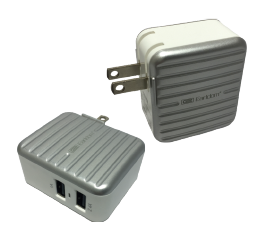 Earldom Dual USB Charger 2.4A Silver (Item# 196898)