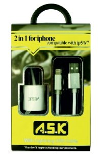 A.S.K Hi-Speed iPhone Charger & Lightning Cable - K&S Wholesaler