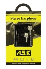 A.S.K Stereo Earphones With Microphone - K&S Wholesaler