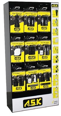 Cell Phone Accessories Display by A.S.K - K&S Wholesaler
