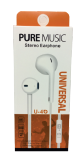 U4 Stereo Earphones Noise Isolation (Item# 200319)