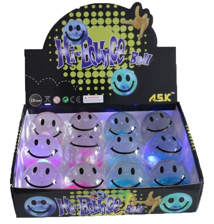 Smiley LED Bounce Ball - K&S Wholesaler