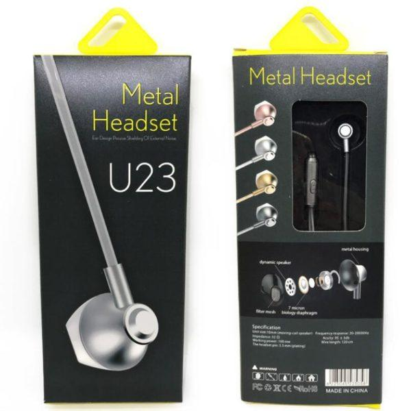 U23 Metal Bass MIC Noise Cancelling Headset - K&S Wholesaler