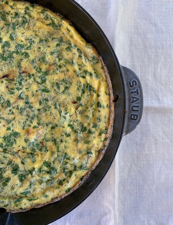 Fennel Frittata with Parmigiano Reggiano & Parsley