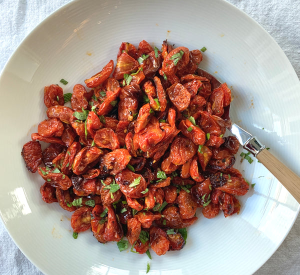 Roasted Tomato Salad with Mint
