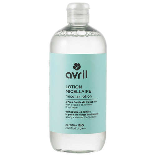 Cleansing micellar lotion - 500 ml - certified organic