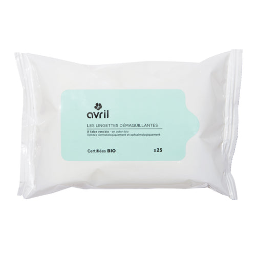 Cleansing wipe x 25 - certified organic