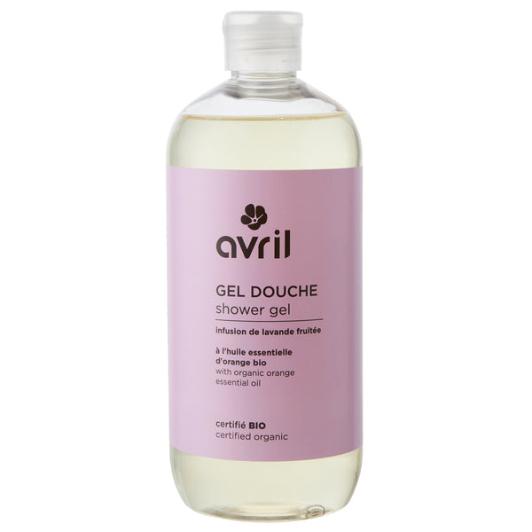 Shower gel - Lavender/Orange - 500 ml - certified organic