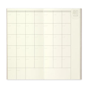 TRAVELER'S COMPANY - Regular Refills - 017 Free Diary (Monthly)