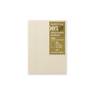 TRAVELER'S COMPANY - Passport - 005 Lightweight Paper