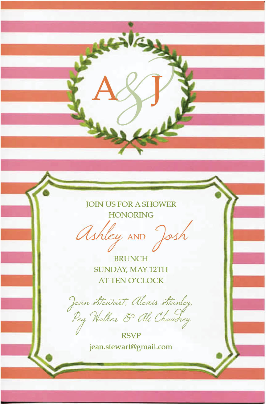 Invitation-Bridal Shower-Laurel of Coral