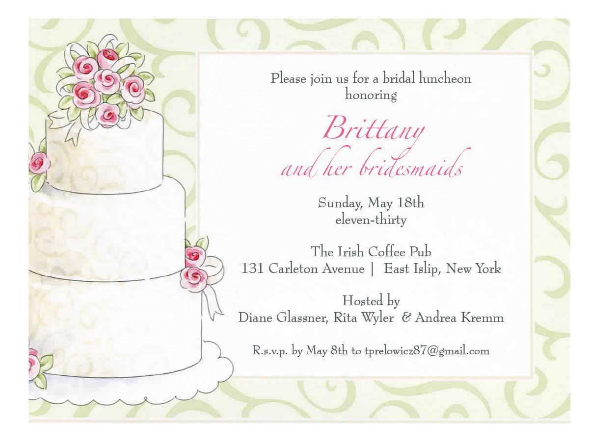 Invitation-Bridal Shower-Bridal Cake