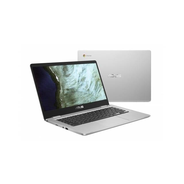 ASUS Chromebook C423NA-DH02 14 inch Intel Celeron N3350 1.1GHz / 4GB LPDDR4 / 32 GB eMMC / USB3.1 / Chrome Notebook (zilver)