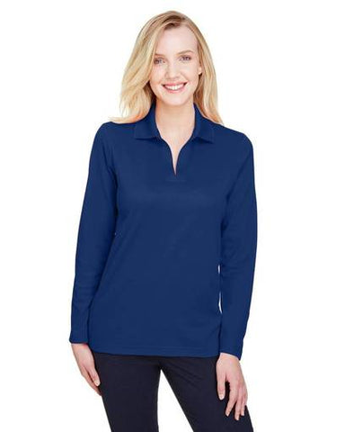 D&J-C Navy Long Sleeve Polo (Ladies M)