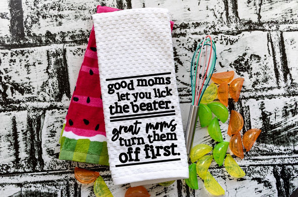 Embroidered Kitchen Towel - Great Moms